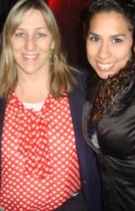 Con Marina, en agosto del 2012