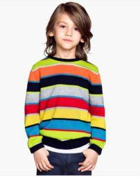 Les dije que me encantaban las rayas. Este suéter para varones cuesta 20 dólares y no sólo abriga sino que le da color al invierno