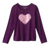 Camiseta para niñas -Kohls- 17 dólares