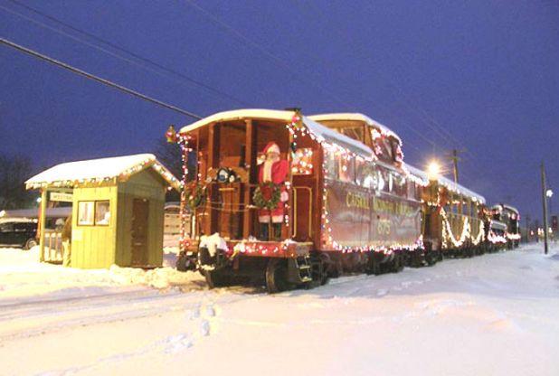 Tren con Santa en Catskill Mountain (NY)