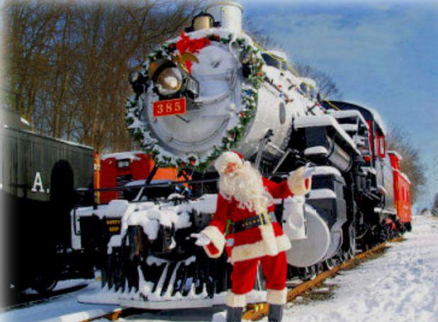 Tren con Santa Claus en New Jersey