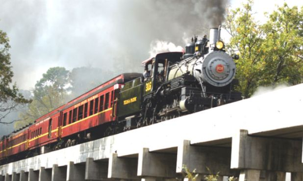 Tren para compartir con Papá Noel en Texas