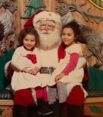 Emma y Anna con Santa en Macy's Santaland (NY)