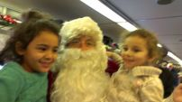 A bordo del tren con Santa Claus