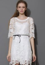 Paper White Crochet Dress Chicwish.com. 45 dólares