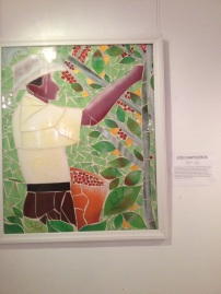 Obra parte de la colección 'De la Finca a la Taza' del artista colombiano Edwin Gil, presentada con la colaboración de 'Café Perfecto'.