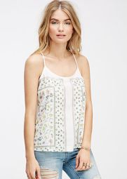 Floral Strappy Back Cami $ 14.90