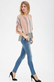 Tribal Print Dolman Top $22.90