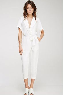 Collared Surplice Jumpsuit $39.90
